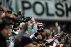 Fanáticos del fútbol, gamberros Imágenes de archivo libres de regalías