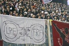 Fanáticos del fútbol rápidos de Bucarest Imagen de archivo