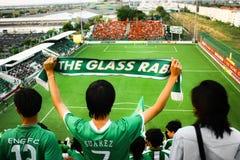 Fanáticos del fútbol tailandeses Foto de archivo