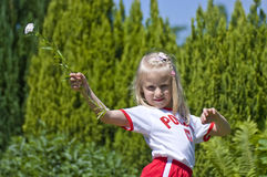 fanów sportu polskie dziewczyny Zdjęcia Stock