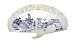 Fan. Chinese traditional folding fan art royalty free stock photo