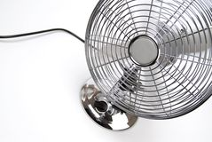 Fan. Running fan on a white background Stock Photo