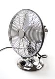 Fan. Metal-styled running fan on a white background Royalty Free Stock Image