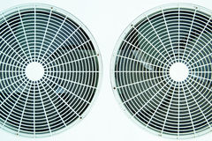 Fan. White fan of air conditioners Stock Images