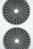 Fan. White fan of air conditioner Stock Photos