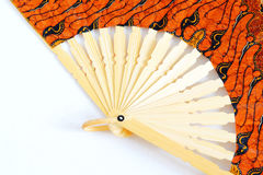 Fan. Open color fan on a white background royalty free stock images