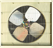 Fan. Unit Of Air-Condition With Grill Royalty Free Stock Photography