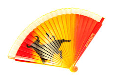 Fan. Open color fan on a white background royalty free stock photography
