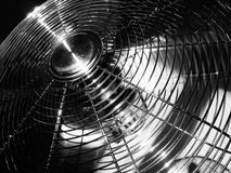 Fan [2]. BW photo of chrome fan Royalty Free Stock Photos