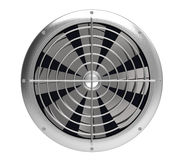 The fan. Metal on a white background Stock Images