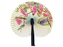 Fan. The Chinese paper fan ornamented by flowers and birds Royalty Free Stock Photos