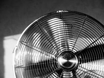 Fan [3]. BW photo of chrome fan Royalty Free Stock Image