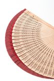 Fan. Red fans stock photography