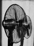 Fan [4]. BW photo of chrome fan Royalty Free Stock Images