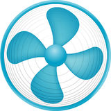 Fan. Illustration for stopped blue fan Vector Illustration