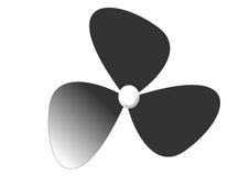Fan. A fan in black without a metal grid Royalty Free Stock Image