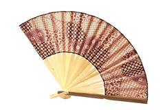 Fan. Beautiful fan - souvenir from the island of Bali Royalty Free Stock Images