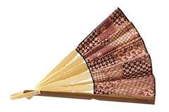 Fan. Beautiful fan - souvenir from the island of Bali Stock Photos