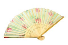 Fan. Beautiful fan - souvenir from the island of Bali Royalty Free Stock Photos