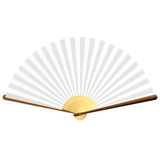 Fan. Vector illustration of a fan. Detailed portrayal. Insert your images into fan area and make it Multiply mode for make your own fan Stock Photo