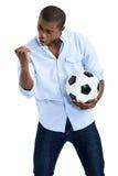 fan afrykańska piłka nożna Zdjęcia Royalty Free