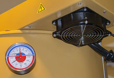 Fan for air. Centrifugal fan for supplying air to the solid fuel stock image