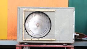 Fan of air compressor spinning stock video