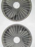 Fan aircondition compressor. Fan on condenser unit for air conditioner Stock Image