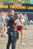 Fan al festival di musica di fine settimana dell'atlante a Kiev, Ucraina immagine stock libera da diritti