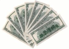 Fan of American dollars Royalty Free Stock Photo