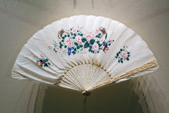 Fan antigua de la mano de China Imagen de archivo libre de regalías