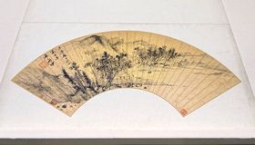 Fan antique de Chines image libre de droits
