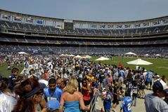 Fan Appreciation Day - Qualcomm. Stock photo of fan appreciation day at Qualcomm Stadium in San Diego, California royalty free stock image