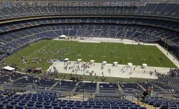 Fan Appreciation Day - Qualcomm Stadium Royalty Free Stock Photo