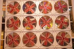 Fan arrangement pattern, very interesting Royalty Free Stock Images