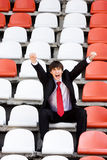 Fan on the audience bleachers Stock Images