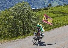 Fan av cyklisten Valverde Arkivbilder