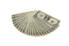 Fan av dollaranmärkningar Fotografering för Bildbyråer