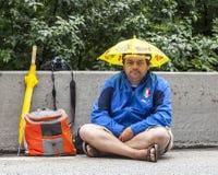 Fan av Le-Tour de France Arkivfoto