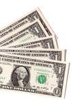 Fan av USA en dollar räkningar Royaltyfri Foto