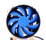 Fan azul del ordenador para la caja de la PC. Foto de archivo libre de regalías