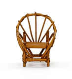 Fan Back Wicker Chair Royalty Free Stock Images