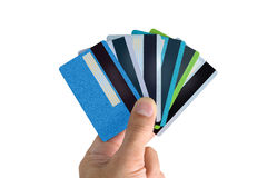 Fan of bank cards Stock Photo