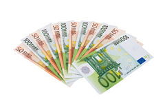 A fan of banknotes Stock Photography