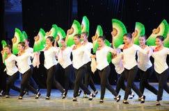 Fan basic skills-The national dance training Royalty Free Stock Image