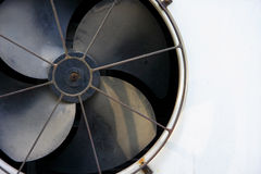 Fan blade of compressor. The fan blade of compressor of air condition royalty free stock photo