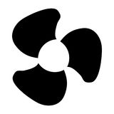 Fan blades black color icon . Stock Photo