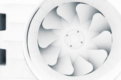 Fan blades of modern ventilation system Stock Photography