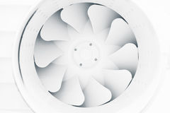 Fan blades of modern ventilation system Royalty Free Stock Image