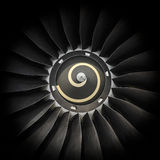 Fan blades. And spinner from up close Royalty Free Stock Photography